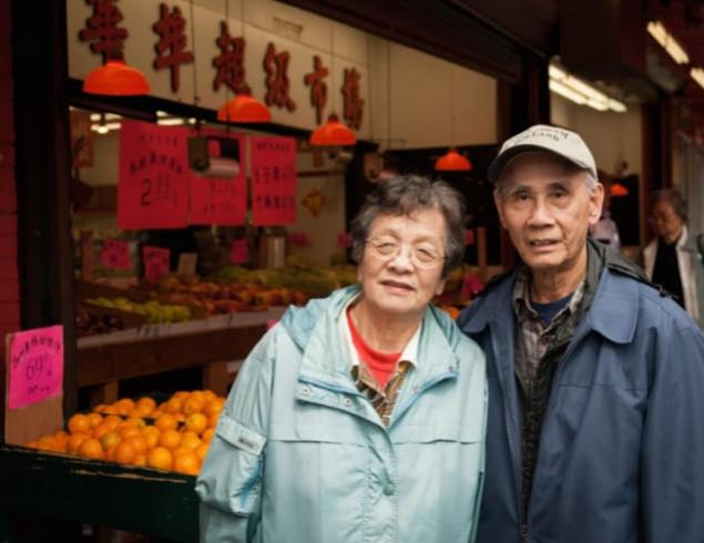 China town couple